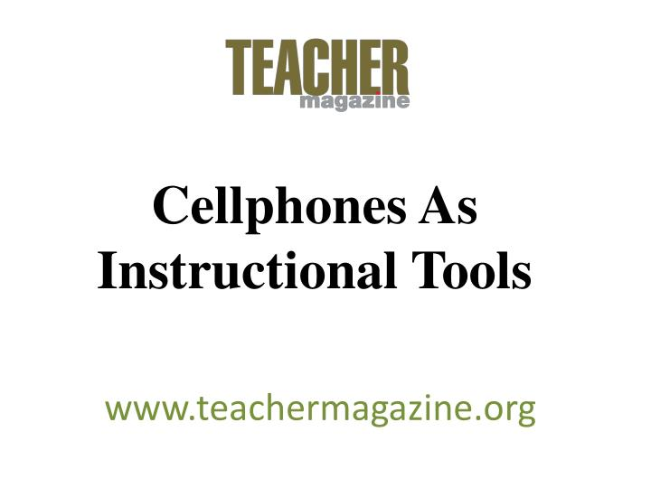 cellphones as instructional tools n.
