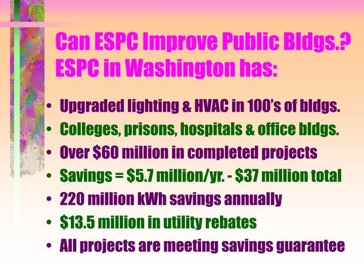 Can ESPC Improve Public Bldgs.?
