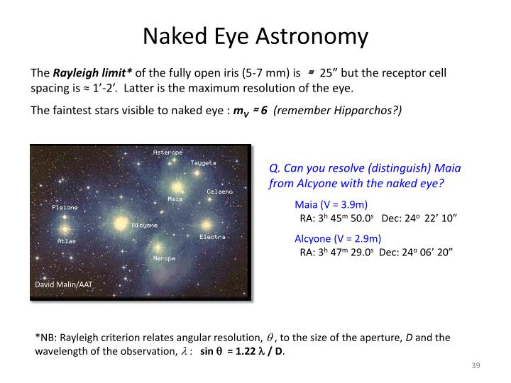 Naked Eye Astronomy