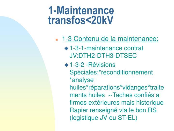1-Maintenance  transfos<20kV