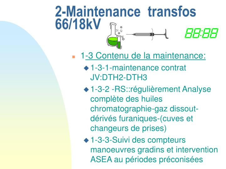 2-Maintenance  transfos 66/18kV