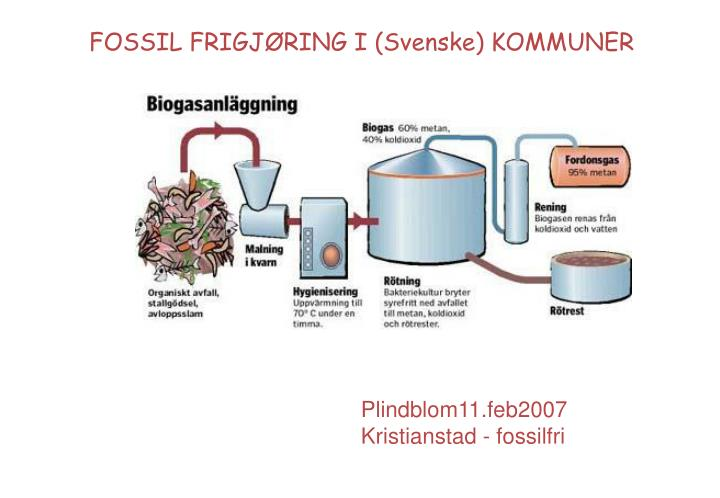 FOSSIL FRIGJØRING I (Svenske) KOMMUNER