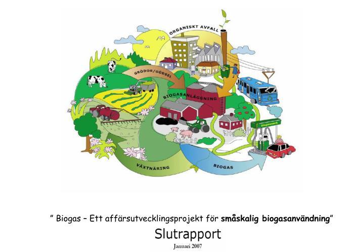 """"""" Biogas – Ett affärsutvecklingsprojekt för"""