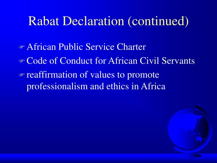 Rabat Declaration (continued)