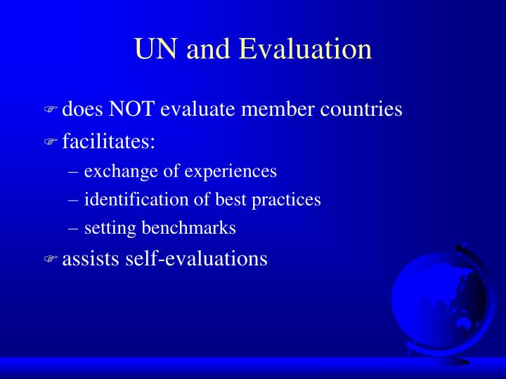 Un and evaluation