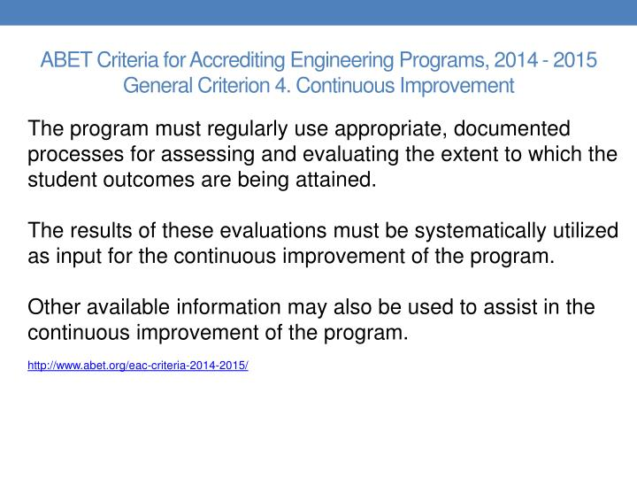 ABET Criteria for Accrediting Engineering Programs, 2014 -