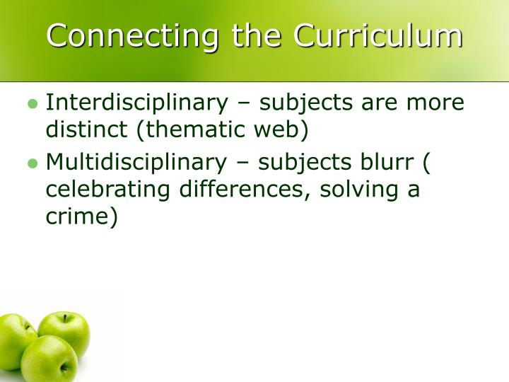 Connecting the Curriculum