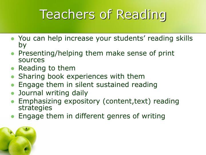 Teachers of Reading