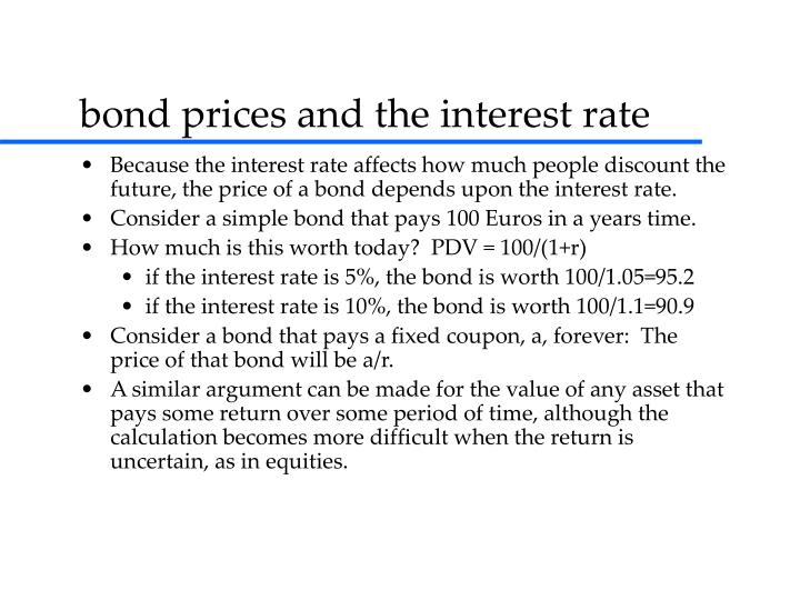 bond prices and the interest rate