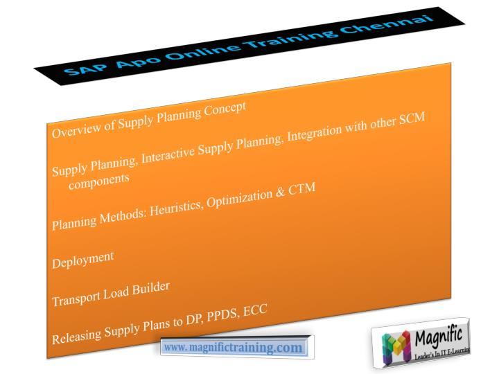 SAP Apo Online Training Chennai