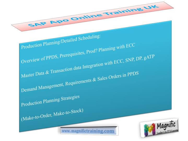 SAP Apo Online Training UK