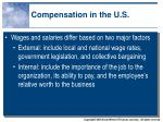 compensation in the u s