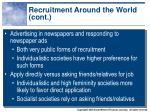 recruitment around the world cont