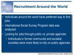 recruitment around the world