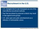 recruitment in the u s