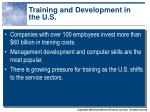 training and development in the u s
