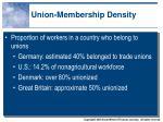 union membership density