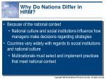 why do nations differ in hrm