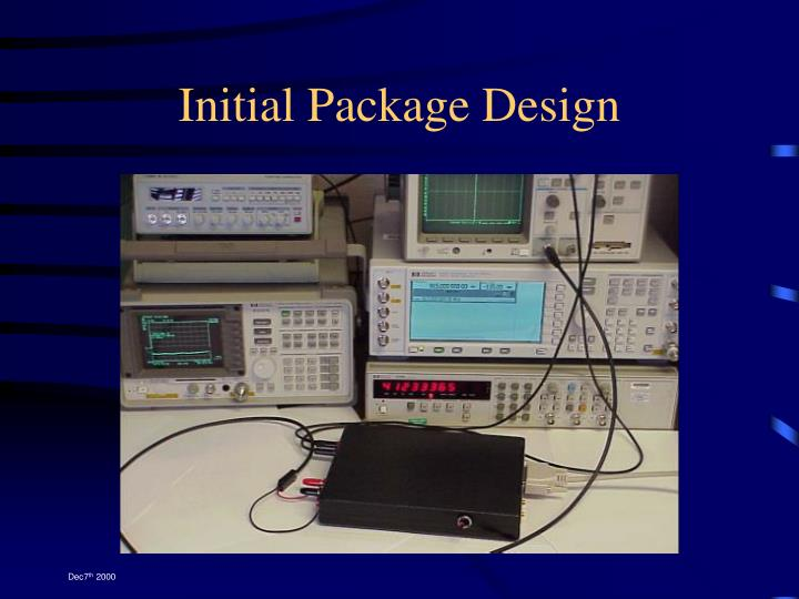 Initial Package Design