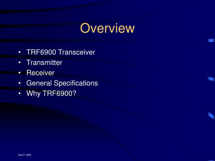 TRF6900 Transceiver