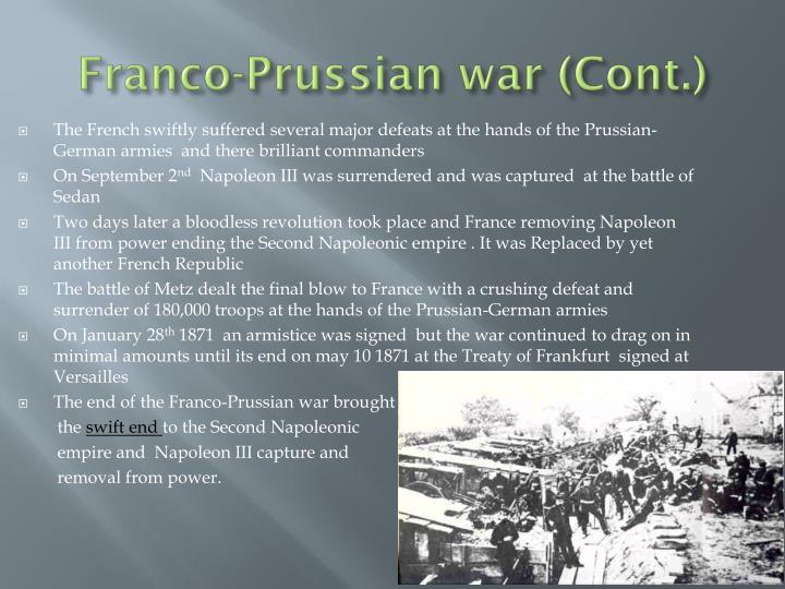 Franco-Prussian war (Cont.)