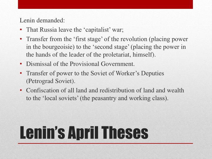 Lenin demanded: