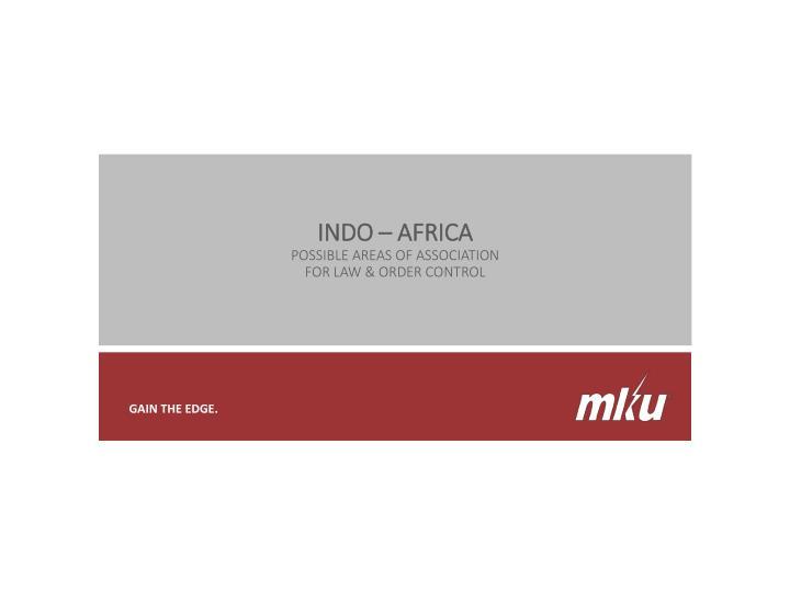 INDO – AFRICA