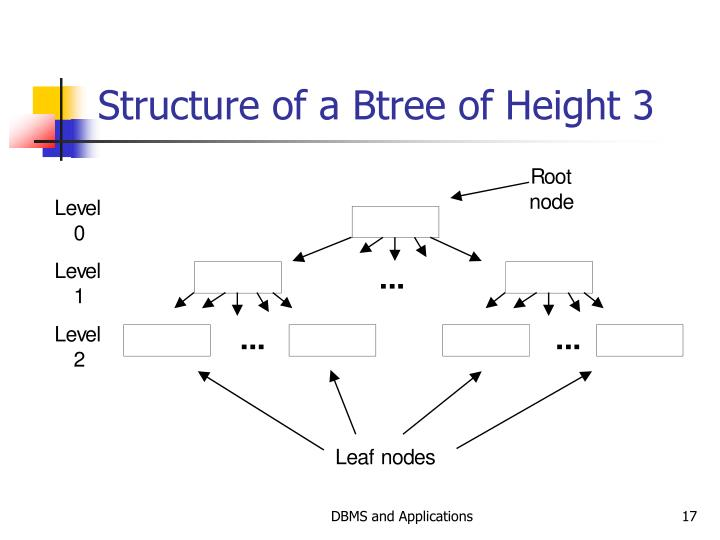 Structure of a Btree of Height 3