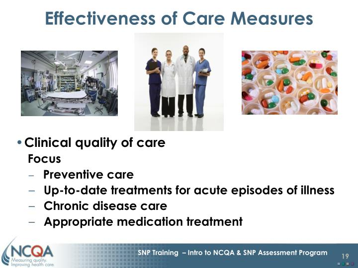 Effectiveness of Care Measures