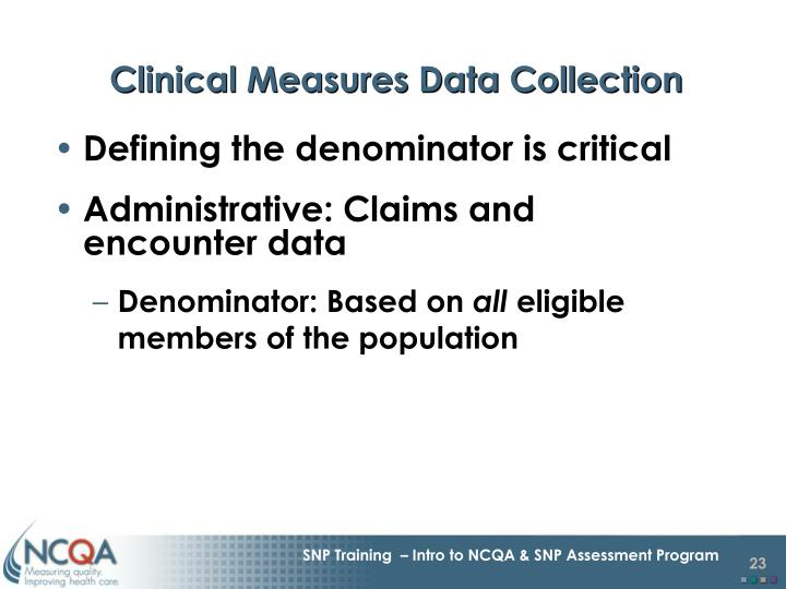 Clinical Measures Data Collection