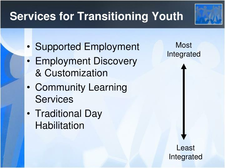 Services for Transitioning Youth