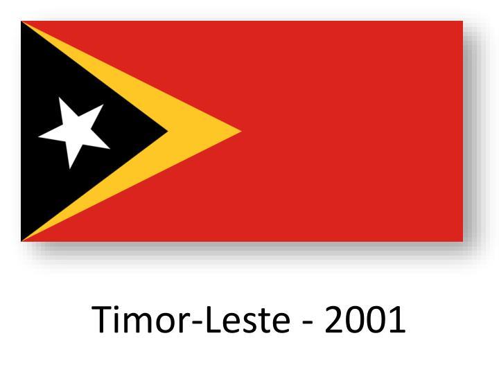 Timor-Leste - 2001