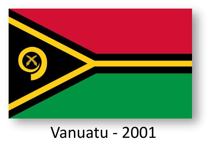 Vanuatu - 2001