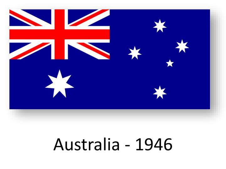 Australia - 1946