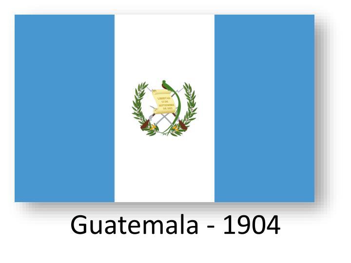 Guatemala - 1904