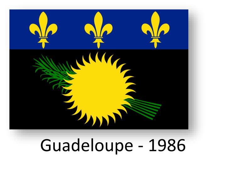 Guadeloupe - 1986