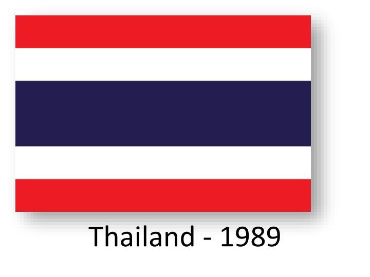 Thailand - 1989