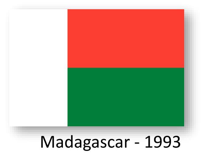 Madagascar - 1993