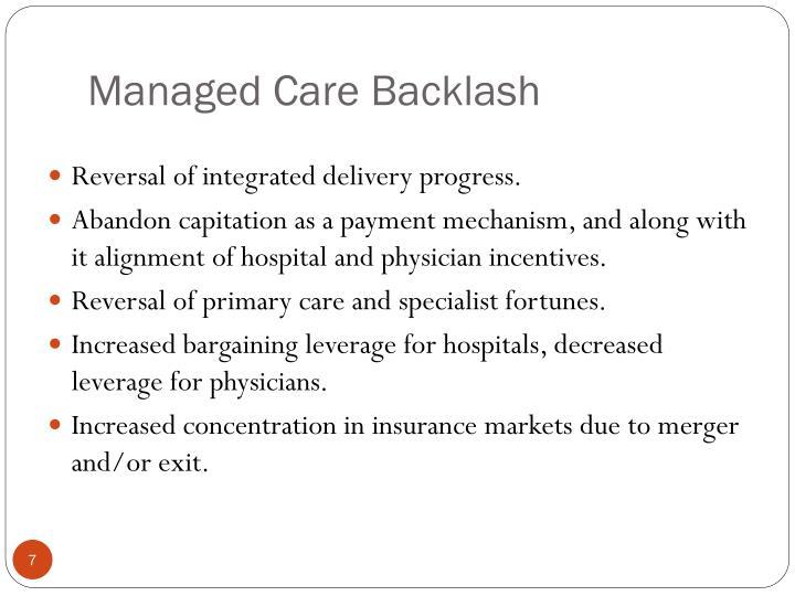 Managed Care Backlash