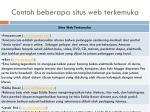 contoh beberapa situs web terkemuka