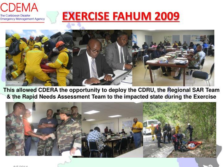 EXERCISE FAHUM 2009