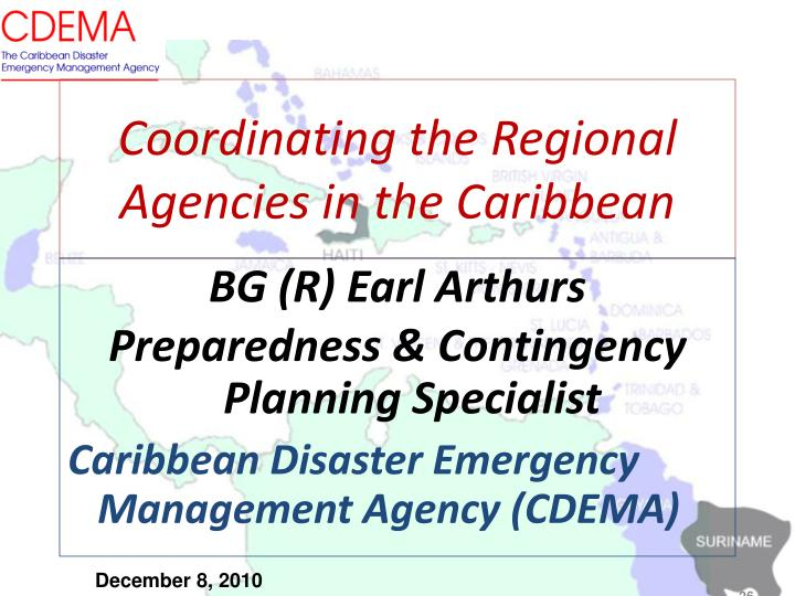 Coordinating the Regional Agencies in the Caribbean