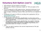 voluntary exit option con t