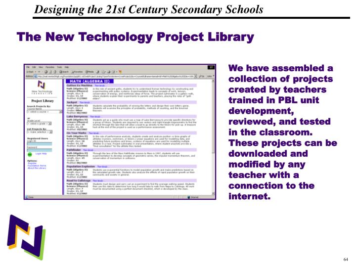 The New Technology Project Library