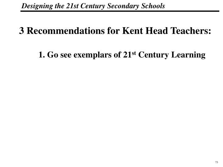 3 Recommendations for Kent Head Teachers: