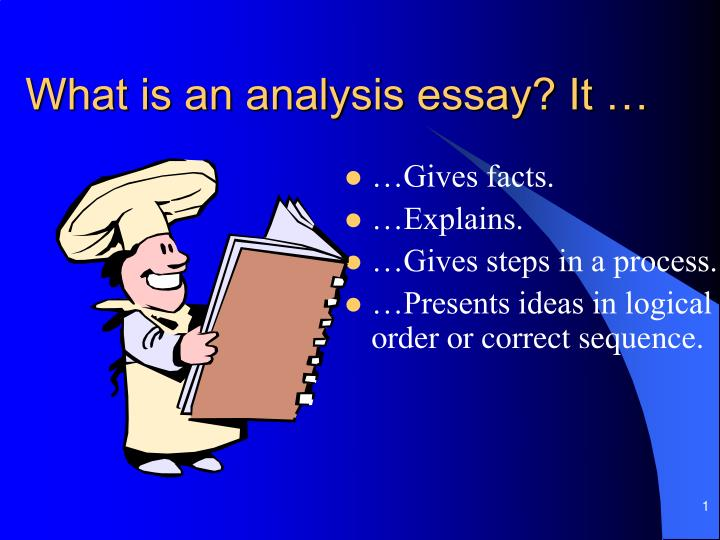 What is an analysis essay it