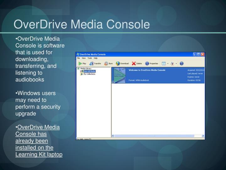 OverDrive Media Console