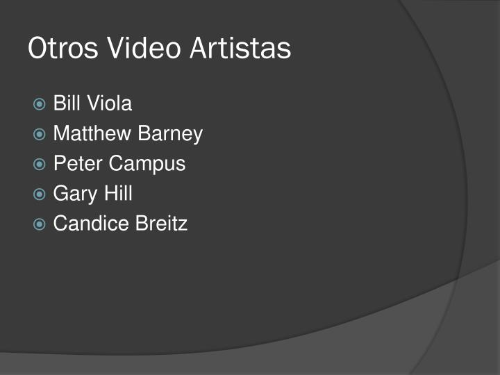 Otros Video Artistas