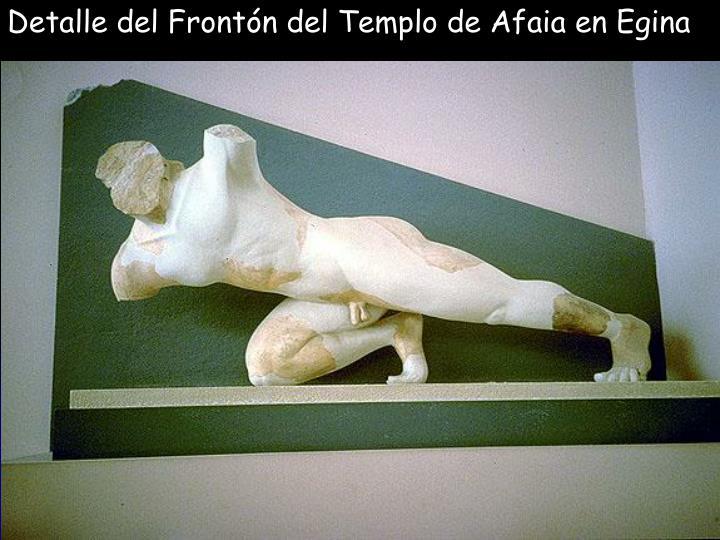 Detalle del Frontón del Templo de Afaia en Egina