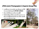 jpeg joint photographer s experts group file